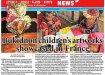 "Newspaper Mindanao Daily News - November 18, 2014 ""Bukidnon's children artworks showcased in France"""